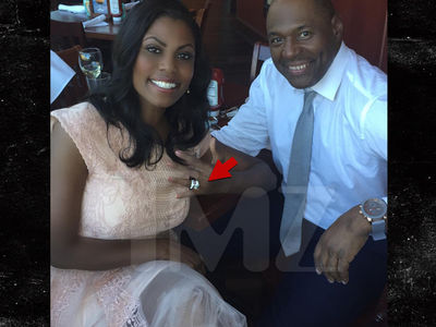 Omarosa -- I'm Engaged!!! Check Out The Rock! (PHOTO)