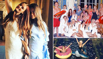 Model Lydia Hearst -- Epic Bachelorette Bash at Family Castle! (PHOTO GALLERY + VIDEO)
