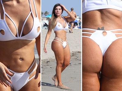 Bikini Model Liziane Gutierrez -- Donald Trump Defends the Border ... Of My Boobs & Butt!! (PHOTO GALLERY)