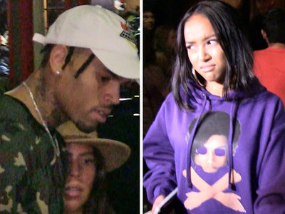 Chris Brown and Karrueche Tran -- Run-In At Kylie Jenner's Party ... NOT Good Times (VIDEO)