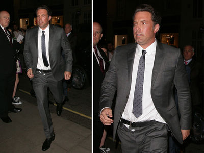 Ben Affleck -- Utility Belt FAIL! Batman Nearly Drops Trou (PHOTO GALLERY)