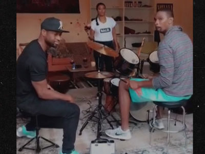 Dwyane Wade & Chris Bosh -- Jam Sesh, Sangria & Matching Trucks ... Best Friends Forever!! (VIDEO)