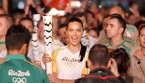 Adriana Lima -- Carries Olympic Torch in Rio ... Doesn't Get Mugged, Kidnapped, Zika (PHOTO GALLERY)