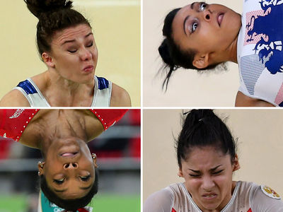 Olympic Gymnasts Going for Gold -- Check Out The Hilarious Flippin' Faces