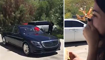 Kylie Jenner -- Happy Birthday From Tyga ... Here's A Maybach (VIDEO/PHOTO)