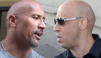 'Fast & Furious' Feud -- Rock vs. Vin Diesel ... Secret Meeting to Quash Beef