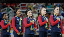 Gabby Douglas -- 'I Never Meant Disrespect' ... During USA National Anthem (PHOTO)