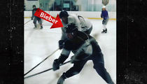 Justin Bieber -- Yeah, I Still Got It ... Flaunts Impressive Hockey Skills (VIDEO + PHOTO)