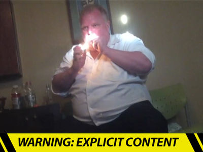 Rob Ford -- Crack-Smoking Video Released ... Trashes Trudeau (VIDEO)