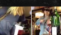 Johnny Depp -- Goes Off on Amber Heard ... Smashes Wine Glass, Bottle (VIDEO)