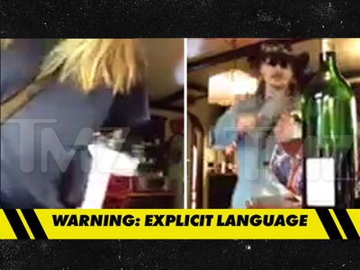 Johnny Depp -- Goes Off on Amber Heard ... Smashes Wine Glass, Bottle (VIDEO)