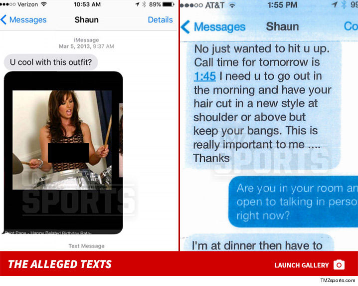 Harrashing messages of Shaun White to Lena Zawaideh