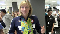Katie Ledecky -- 8-Man Security Team at Airport ... Gotta Protect That Gold! (VIDEO)