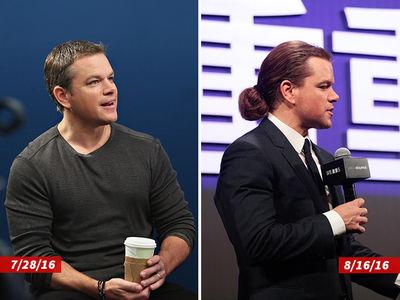 Matt Damon -- Where'd All That Hair Come From? (PHOTOS)