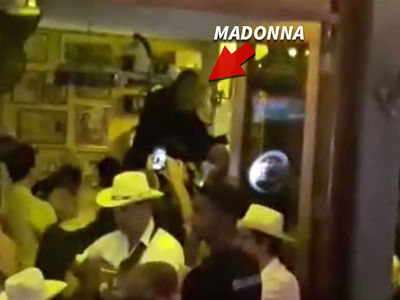 Madonna -- Havana Great Time Dancing on Bars for Birthday (VIDEO)