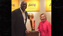 Magic Johnson -- House Party for Hillary Clinton ... With Sam Jackson! (PHOTOS + VIDEO)