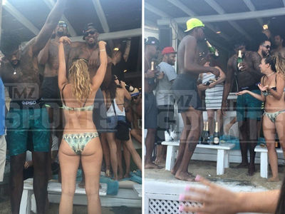 Kevin Durant & DeAndre Jordan -- Bikinis, Bottles & Zero Shirts ... Victory Turn Up In Greece (PHOTO GALLERY + VIDEO)
