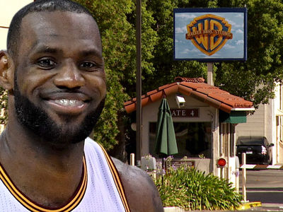 LeBron James -- I Got A New Address ... WARNER BROS. STUDIOS (PHOTOS)