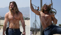 Brock O'Hurn -- Man of All Man Buns ... Lets His Hair Down (PHOTO GALLERY)