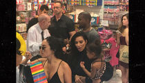 Kim, Kanye & North -- Drop Two Bills on Sweet & Sour (PHOTO)