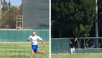 Tim Tebow -- Footage From MLB Workout ... Crushes Monster Home Run!! (VIDEO)