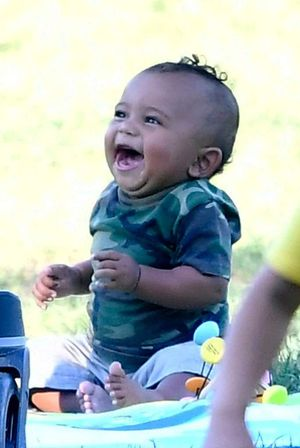 Saint West -- Laughing His Diapers Off