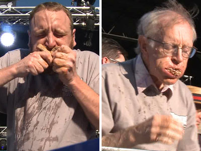 BBQ Rib War -- 76-Year-Old Mows Down Racks ... Edged Out By Joey Chestnut (VIDEO)