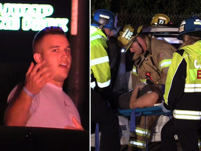 Mike Trout -- Involved In Bad Car Crash ... Escapes Unscathed (VIDEO + PHOTOS)
