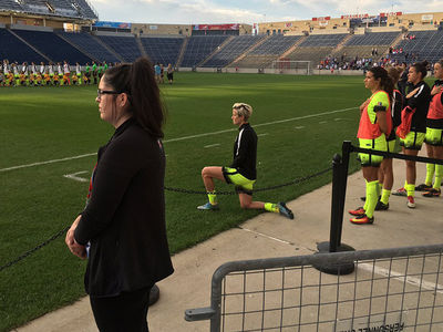 Team USA Soccer Star Megan Rapinoe -- Takes a Knee .... I'm With Colin Kaepernick