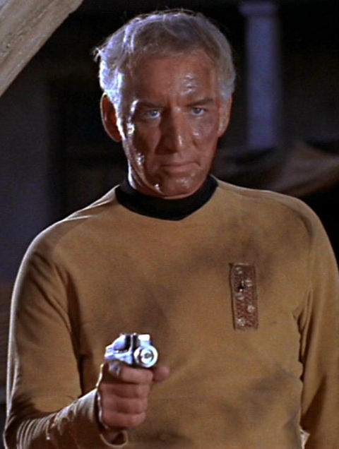 "Morgan Woodward as ""Captain Tracey."""