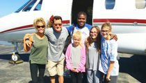 Charlie Sheen -- Jet-Setting Birthday Party With His Daughters (PHOTOS)