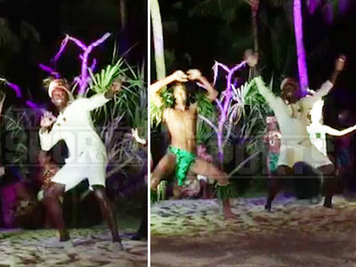 Usain Bolt -- Fleet Feet and Pelvic Thrusts ... In Bora Bora Boogie Down (VIDEO)