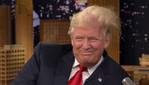 Donald Trump Gets Messy with Jimmy Fallon ... It Ain't a Toupee! (VIDEO)