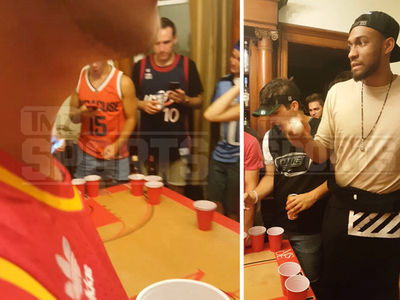 NBA's Jabari Parker -- Crushes Beer Pong ... At College Party (VIDEO)