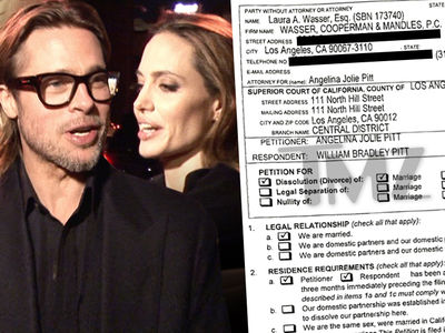 Angelina Jolie & Brad Pitt -- See the Divorce Docs