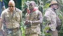 'Jumanji' -- Reboot Begins ... Giant Stars Come Together! (PHOTO GALLERY)