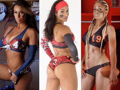Legends Football League -- Hottest Players Of 2016 ... No Deflategate Here!! (PHOTO GALLERY)
