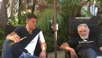 Nick Diaz -- Smokes Huge Joint ... With Tommy Chong