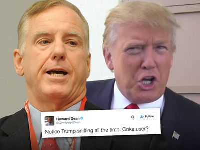 Howard Dean -- Low Blow Against Trump ... 'Coke User?'