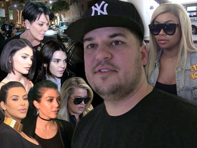 Rob Kardashian & Blac Chyna -- Secret Breakup Leads to Fight with Sisters ... Kylie's Digits Leaked