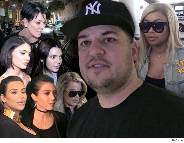 Rob Kardashian U0026 Blac Chynau0027s Breakup Leads To Fight With Sisters