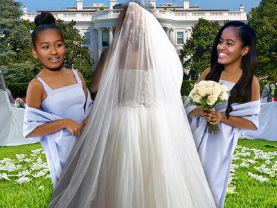 Malia & Sasha Obama -- Here Come the Bridesmaids for White House Wedding!!