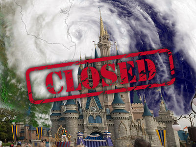 Disney World -- Hurricane Matthew Wins ... We're Closing!