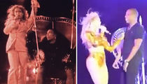 Beyonce -- Wraps Tour With a Jay Z & Serena Bang (VIDEO)