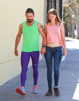 Mia Goth and Shia LaBeouf -- The Happy Couple