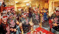 Cleveland Indians -- Locker Room Bottle Poppin' ... After Sweeping Red Sox In ALDS (PHOTO GALLERY + VIDEO)