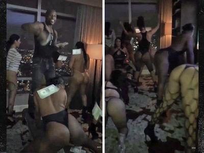 Floyd Mayweather -- So Much Money, So Many Strippers ... Private Hotel Twerkfest (VIDEOS)