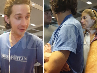 Shia LaBeouf -- Jokes with Older Woman ... I Got a Crush On You, Girl! (VIDEO + PHOTO)