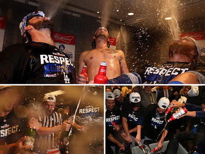 L.A. Dodgers -- Insane NLDS Celebration ... Beer Baths And Patriotic Speedos!! (PHOTO GALLERY + VIDEO)