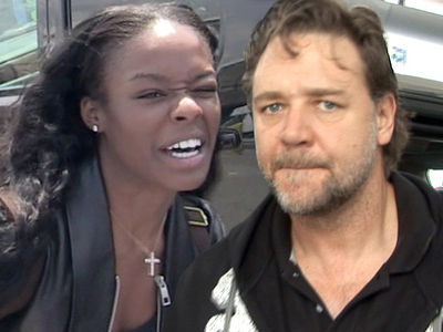 Russell Crowe & Azealia Banks -- Alleged Spitting in Range of Security Cameras